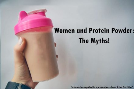 Woman and protein powder the myths title photo